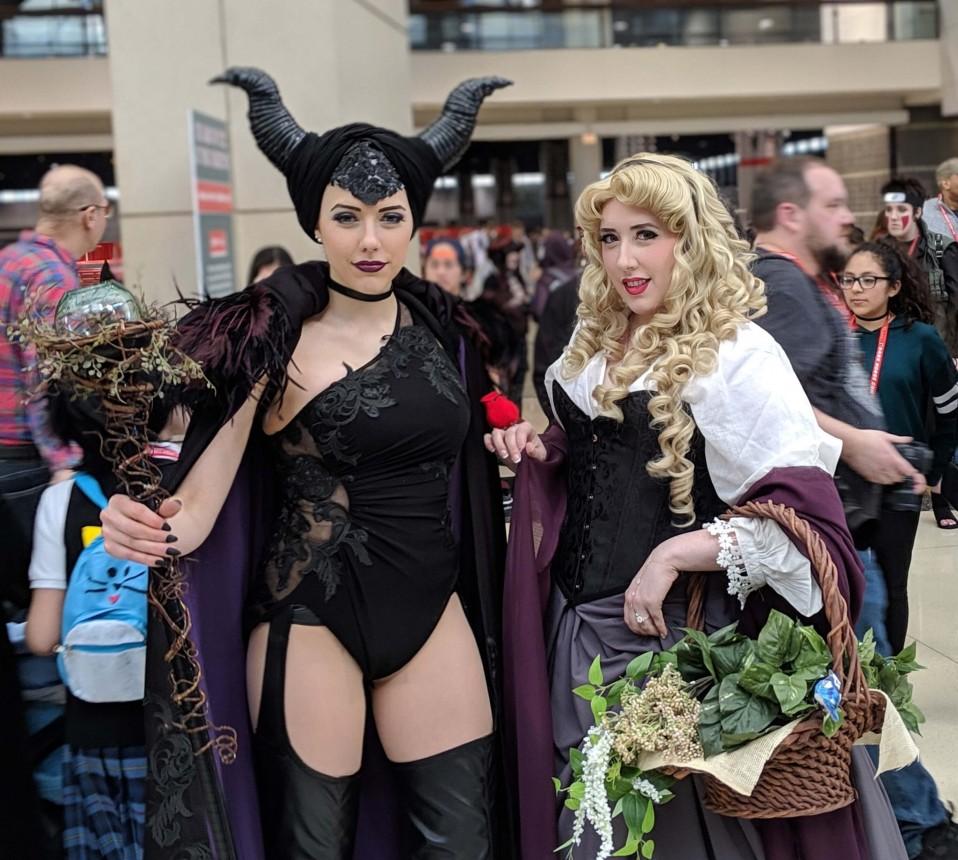Maleficent and Aurora