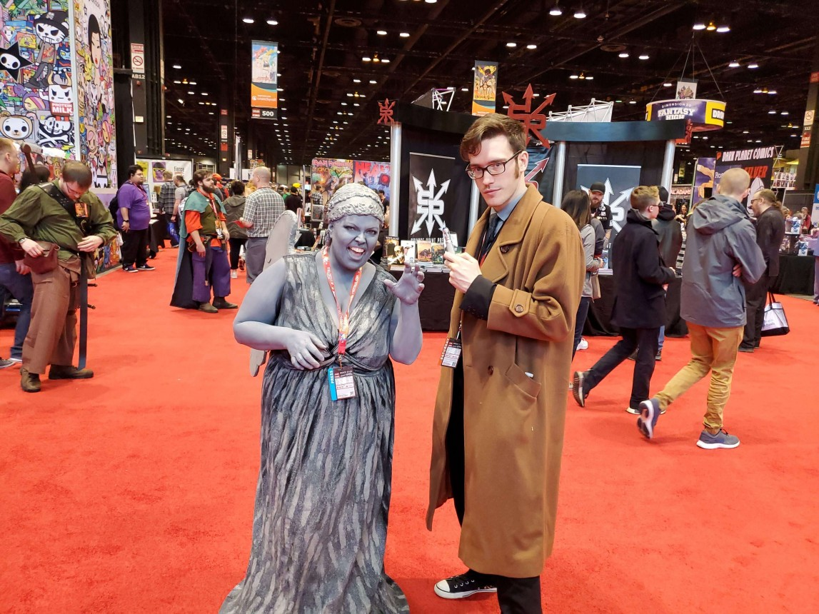 Weeping Angel and Tenth Doctor