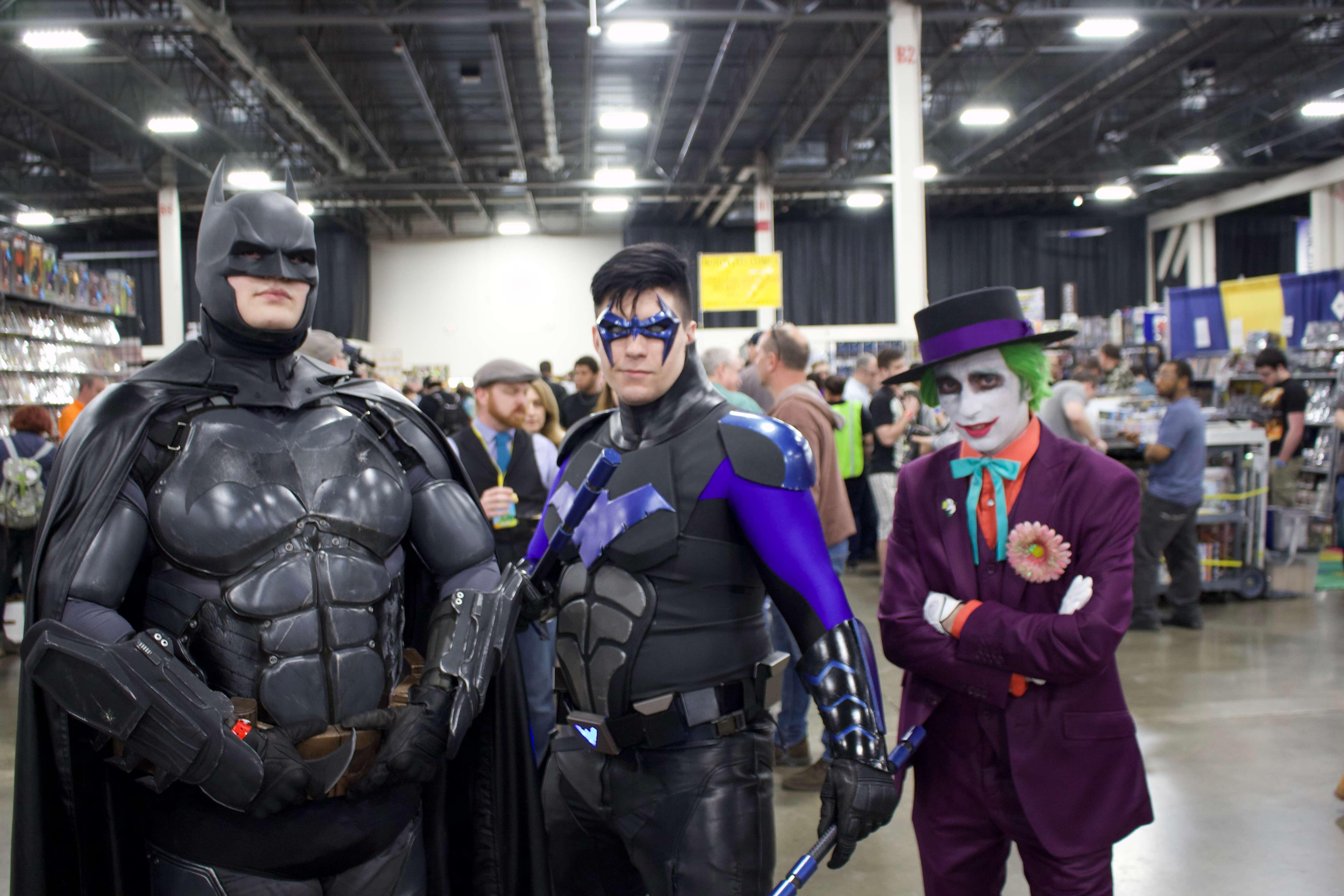 Batman, Nightwing, Joker