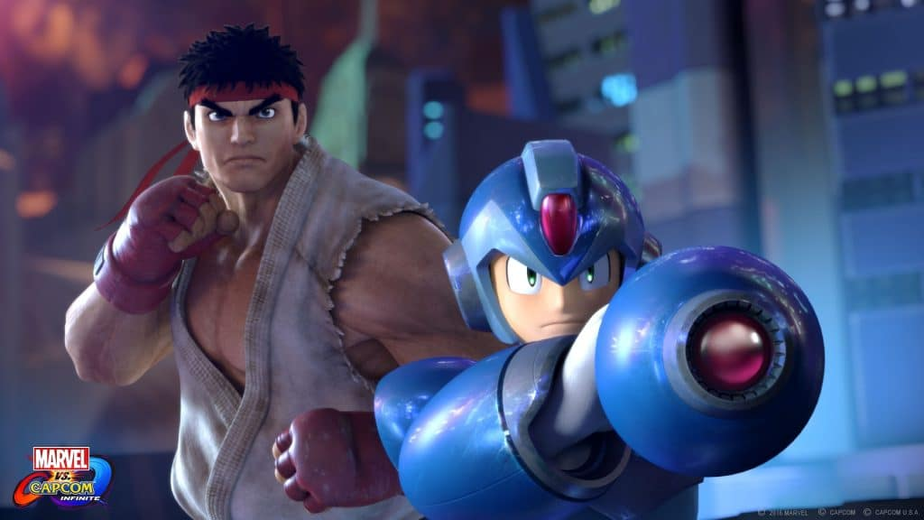 Ryu and Mega Man